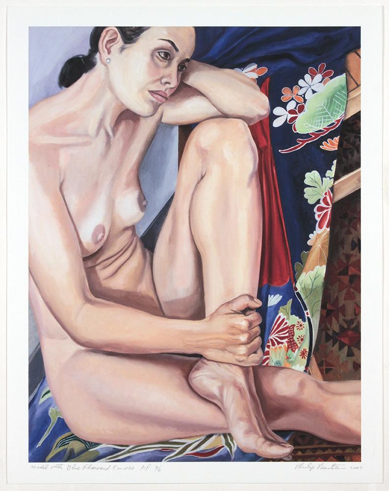 Model in Blue Flowered Kimono , 2004 Iris print 21.875 x 17 in