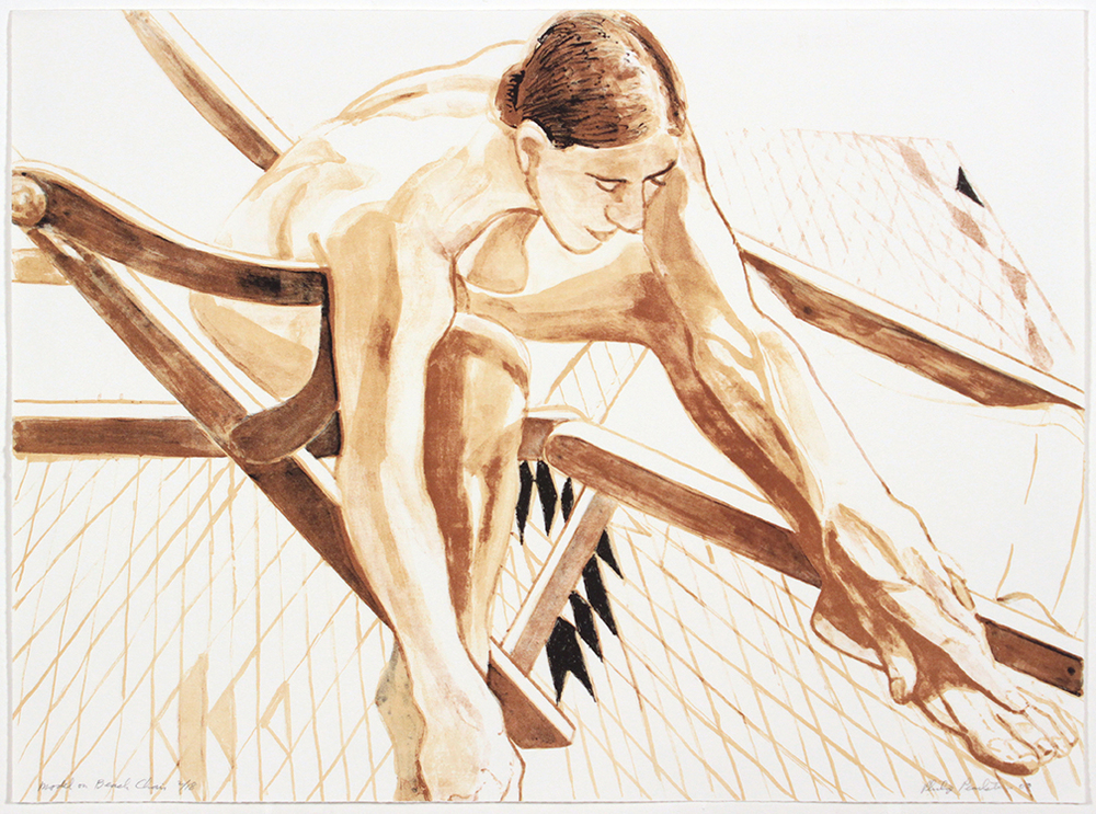 Model on Beach Chair , 2003 Lithograph 17.375 x 23.5 in