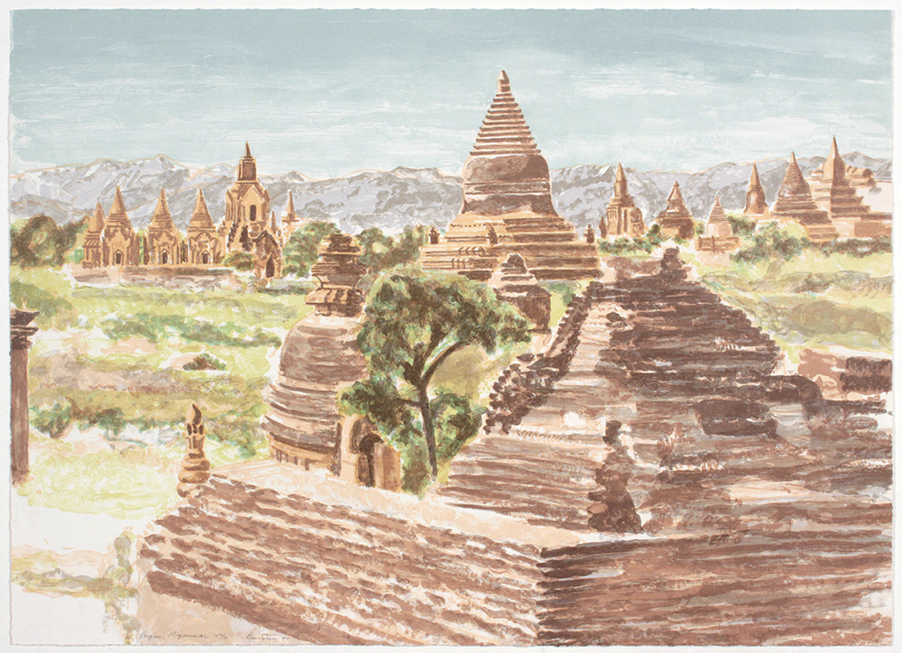 Pagan Myanmar , 1997 Lithograph 23.75 x 29 in