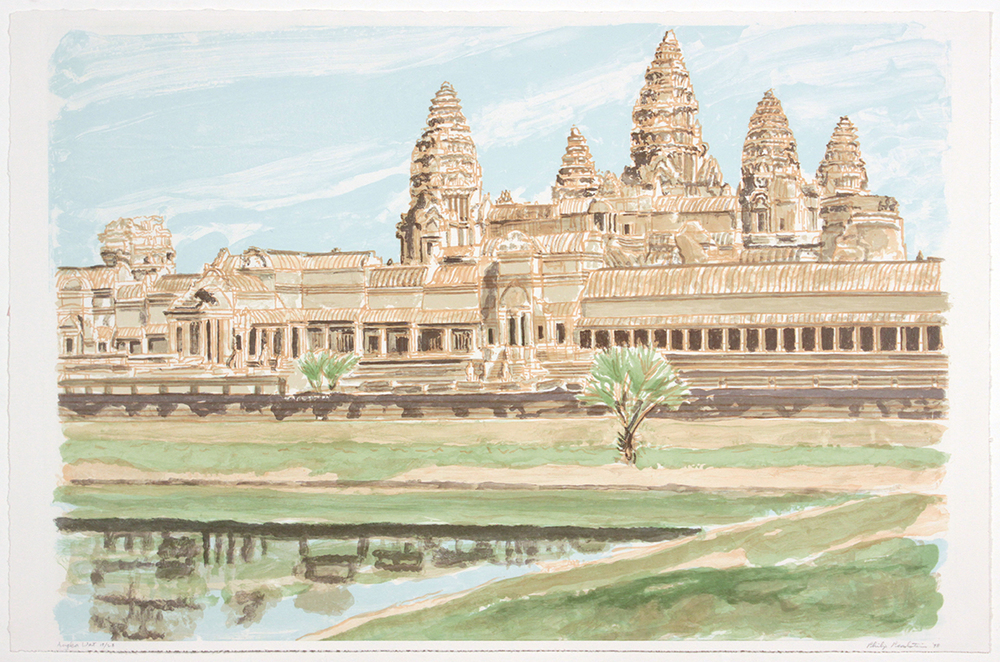 Ankor Wat , 1998 Lithograph 22 x 33 in