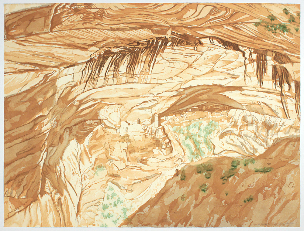 Canyon de Chelly Ruins , 1994 Etching, Aquatint 33.25 x 44.50 in