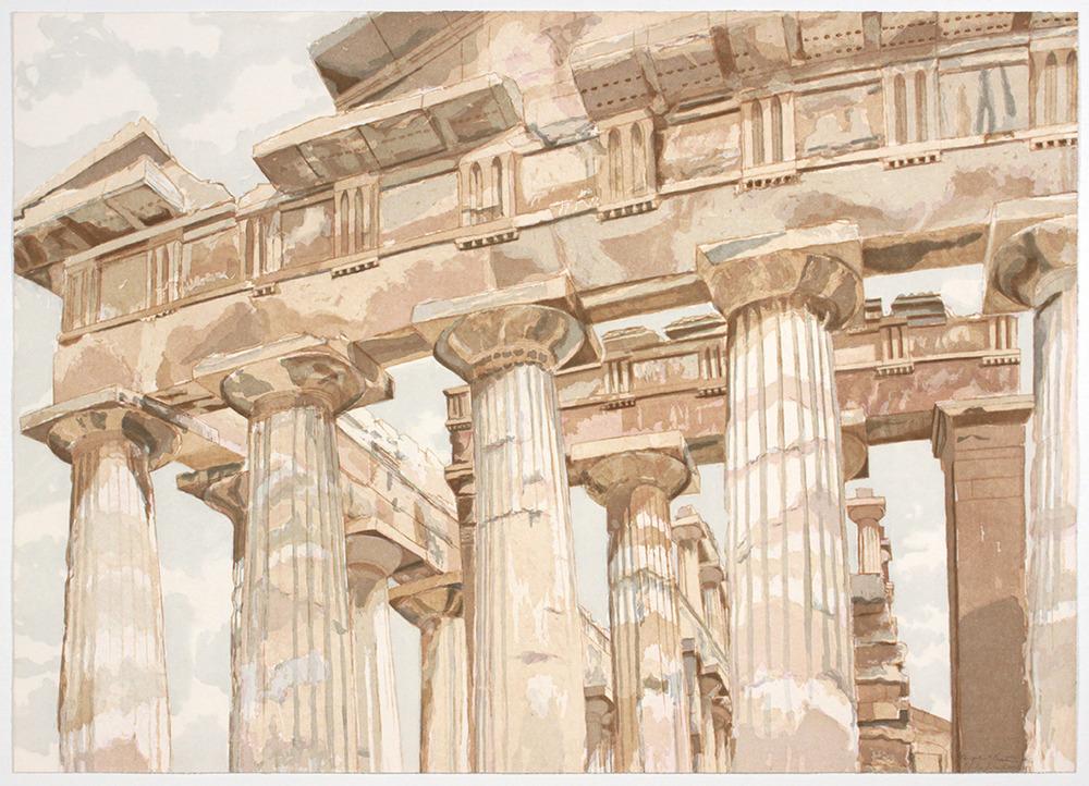 Temple at Paestum , 1983 Etching, Aquatint 28.50 x 40.25