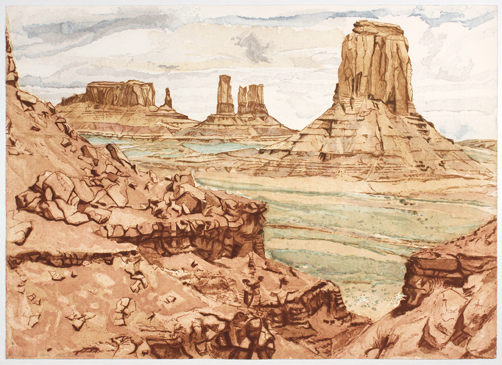 Monument Valley , 1981 Etching, Aquatint 29 x 40.50