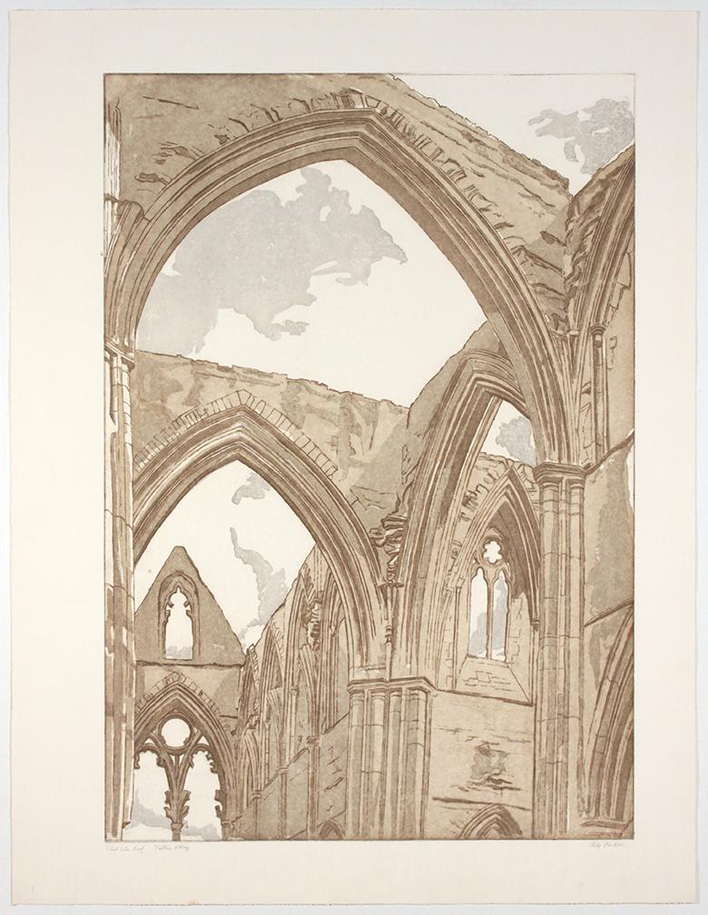Tintern Abbey , 1979 Etching, Aquatint 39 x 30.375 in