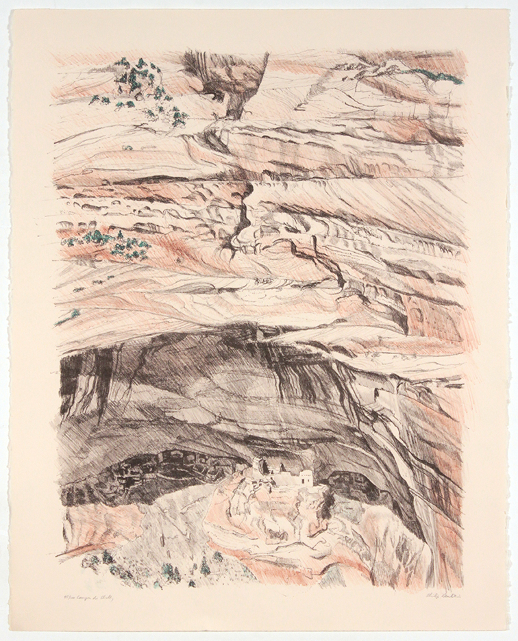 Canyon de Chelly , 1979 Color Lithograph 28 x 22.25 in