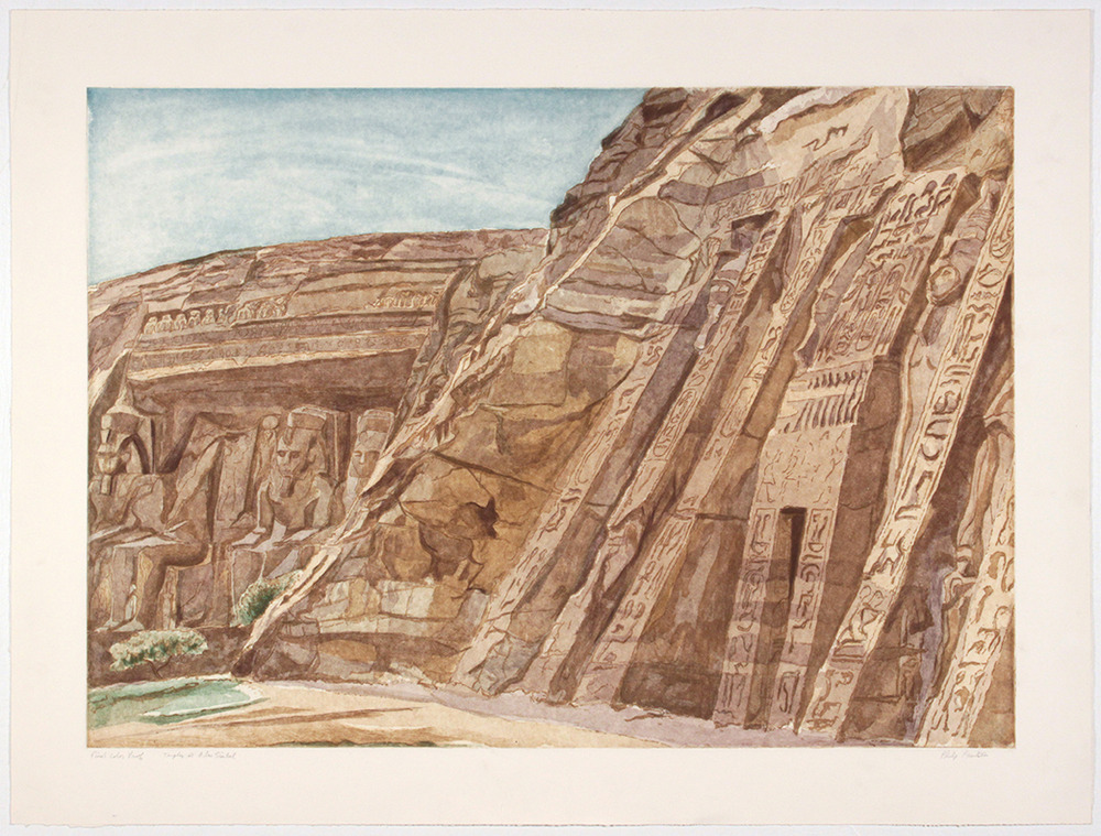 Temple at Abu Simbel , 1979 Etching, Aquatint 29.25 x 39 in