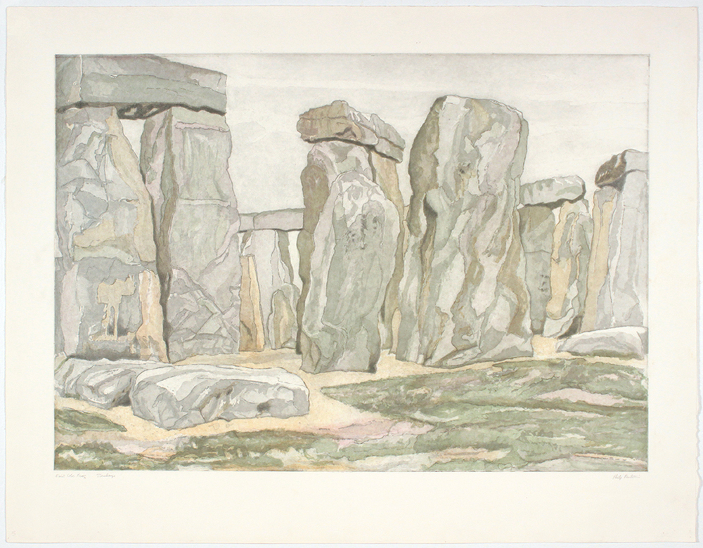 Stonehenge , 1979 Etching 24 x 34 in