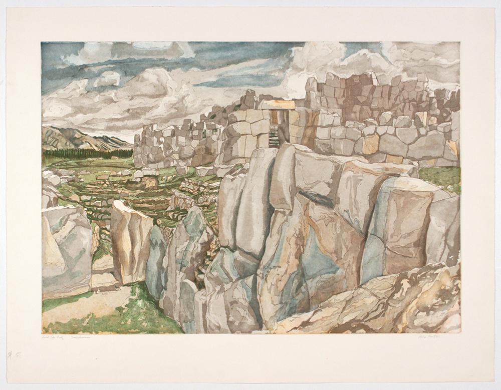 Sacsahuman , 1979 Etching, Aquatint 30.25 x 39.25