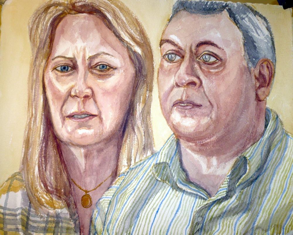 Neil and Jacintha Guerchio , 2009 Watercolor
