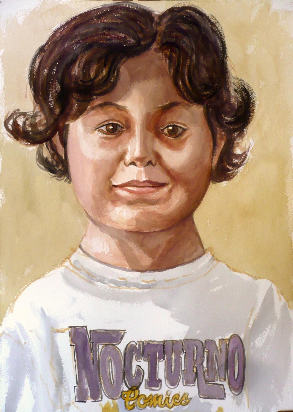 Adrian Vecchio (Artist's Grandson) , 2009 Watercolor