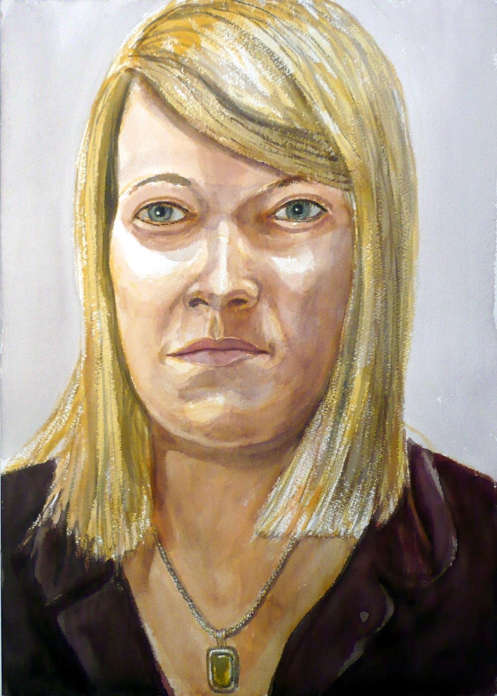 Courtney Severin , 2008 Watercolor 20 x 14 in