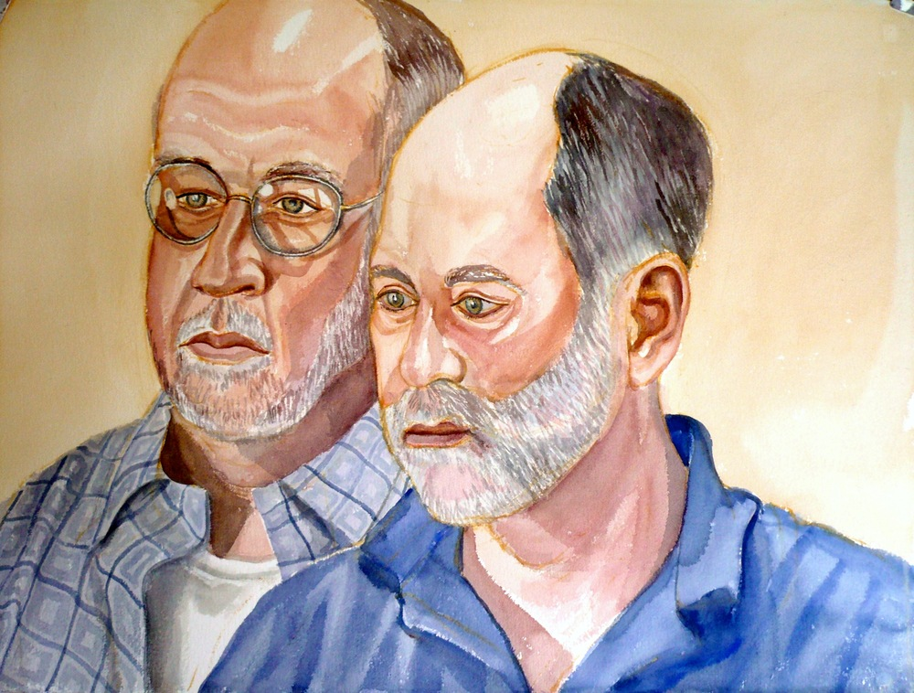 Patrick Coony and Karl Bachberg , 2008 Watercolor 23x30 in