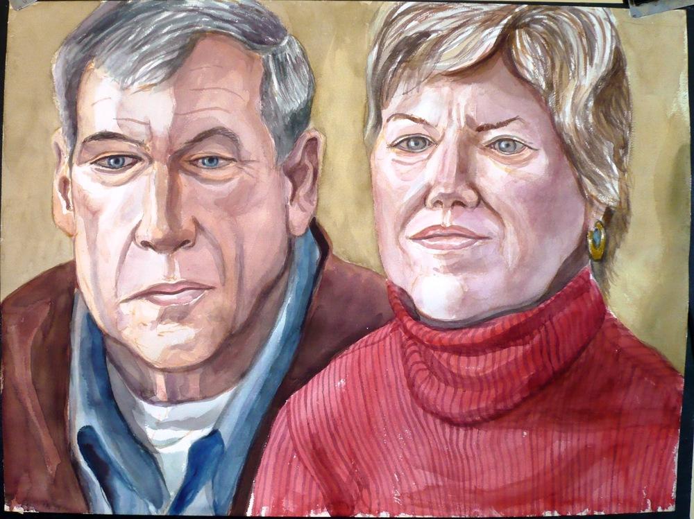 Herb & Karen Carlough , 2008 Watercolor