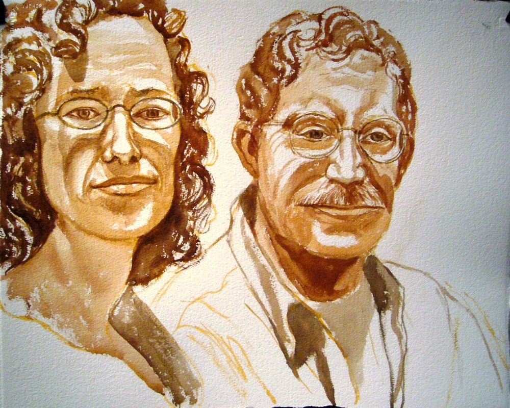 The Millers , 2007 Sepia wash 18 x 22 in