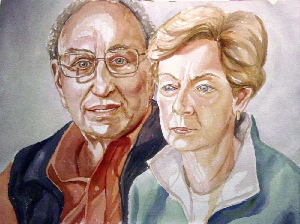 Larry & Murt Meltzer , 2006 Watercolor