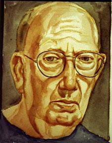 Philip Pearlstein, Self Portrait , 2000 Watercolor 10 x 12 in