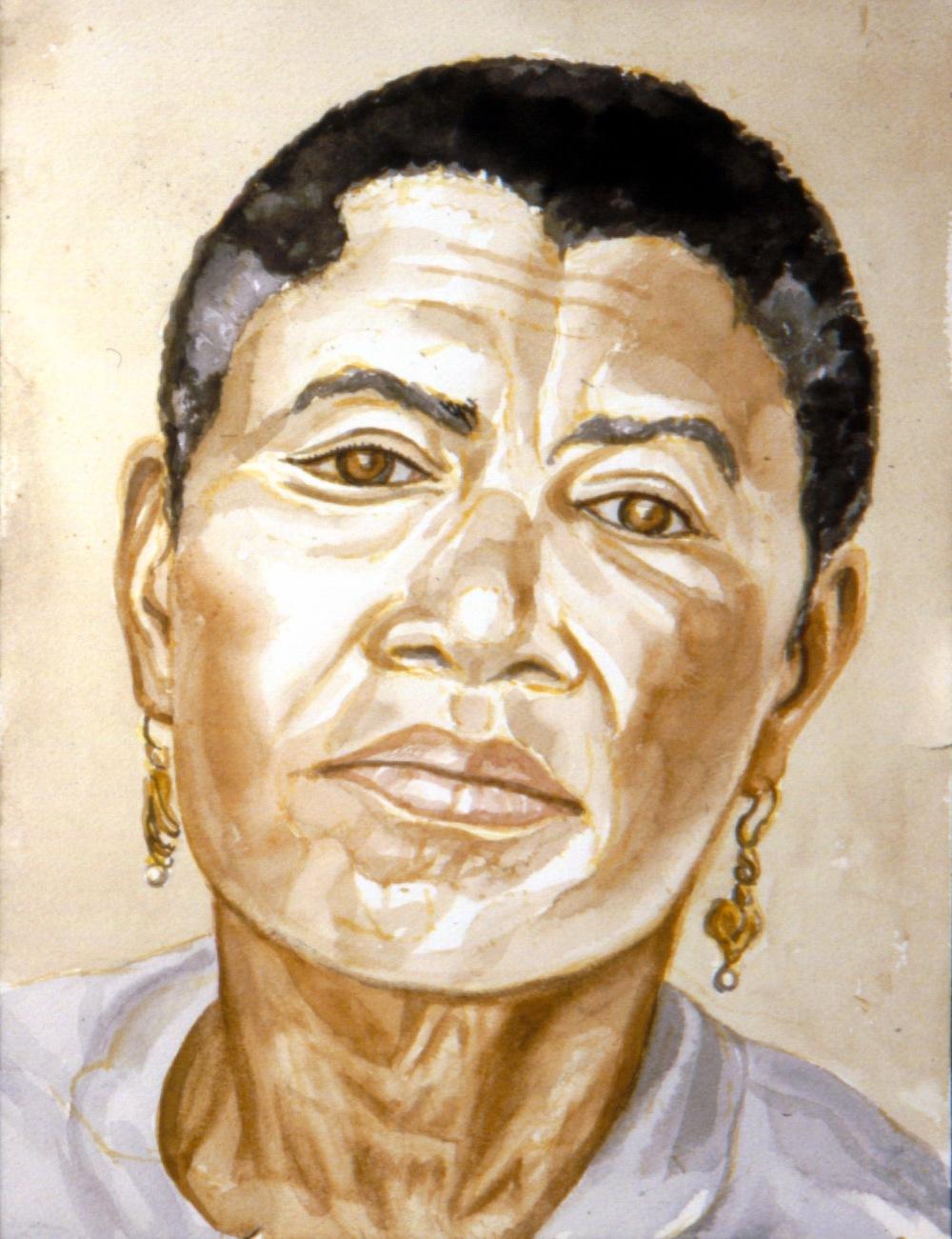 Mrs. Baker , 1994 Watercolor 18 x 24 in