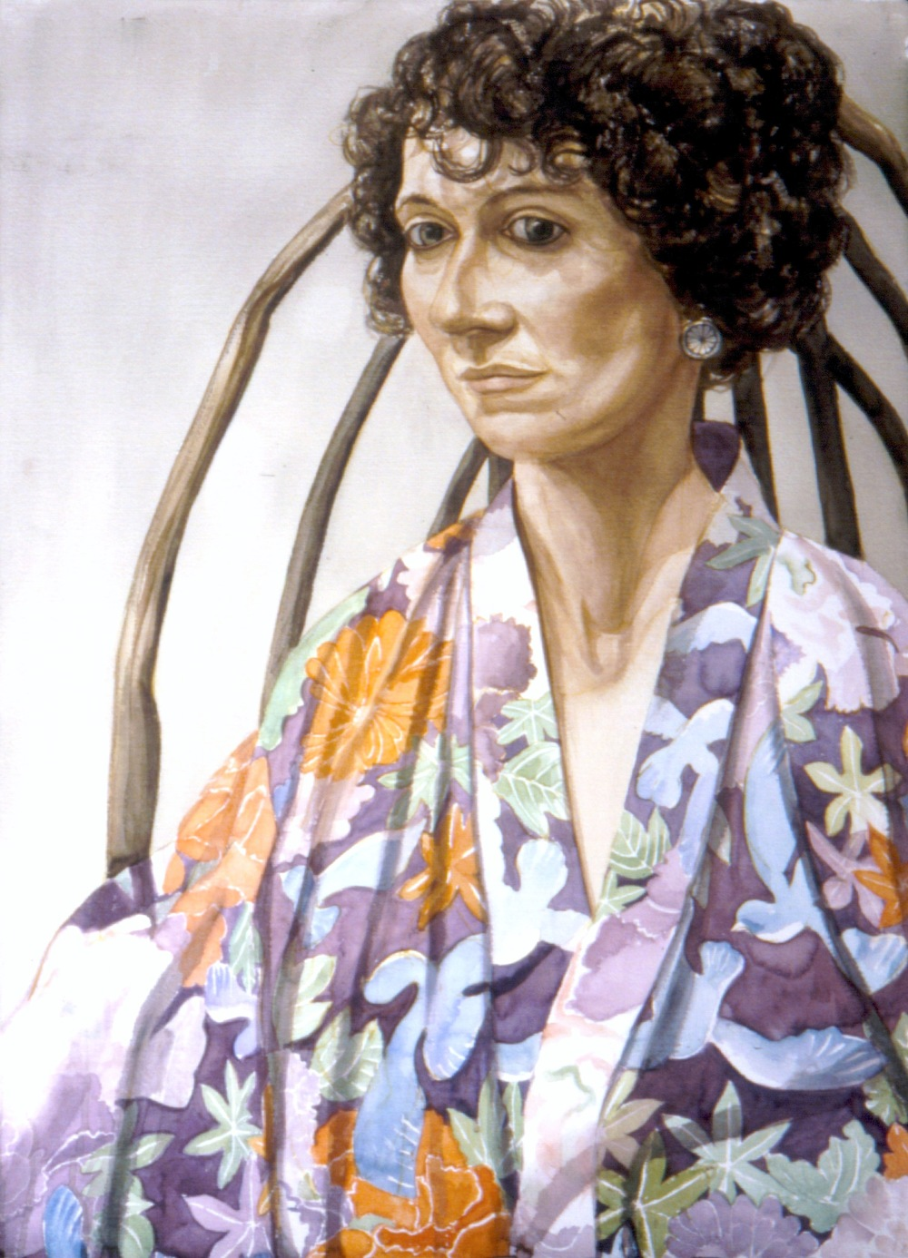 Ellen Pearlstein (Artist's Daughter) , 1993 Watercolor 41 x 29.75 in