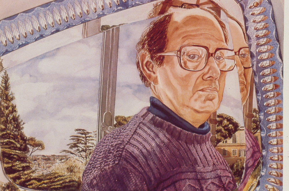 Self Portrait , 1982 Watercolor 29.5 x 41 in