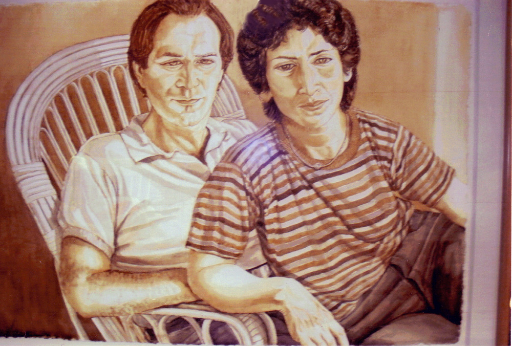 Elise and Harold Seligman , 1980 Watercolor