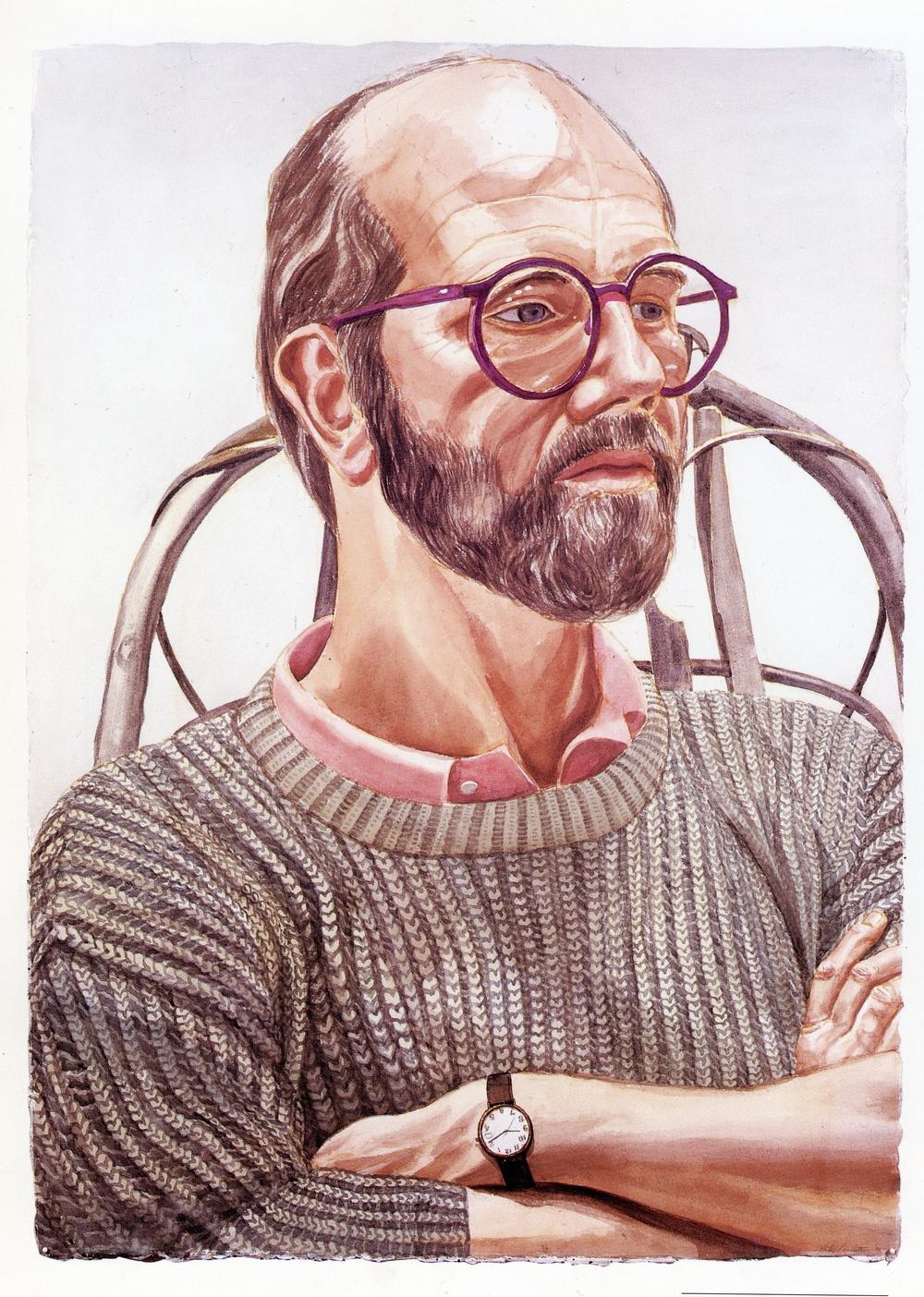 Chuck Close , 1986 Watercolor 42 x 30 in