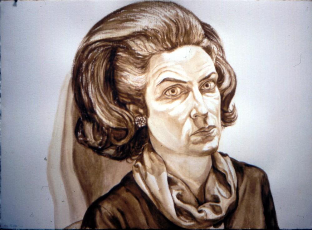 Barbara Schofield , 1976 Watercolor 29.5 x 41 in