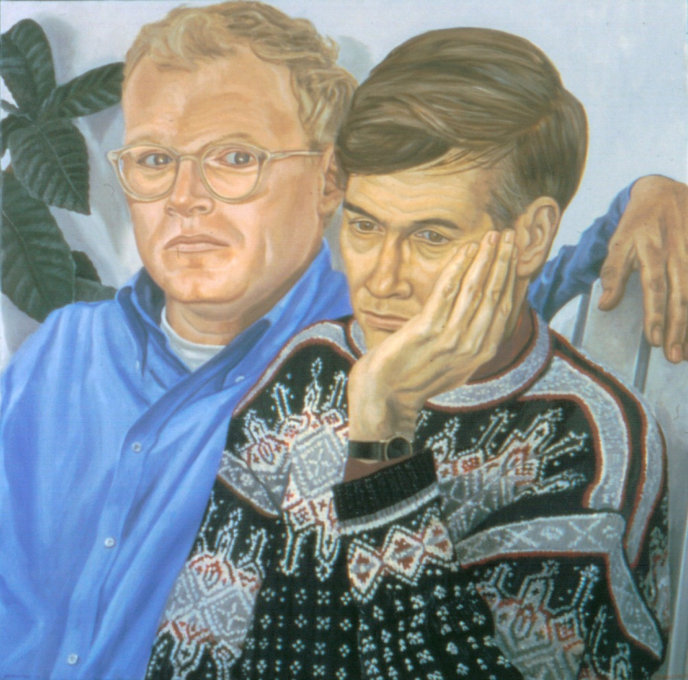 Charles Von Nostitz & Christian Malcolm , 2001 Oil on canvas 34 x 34 in