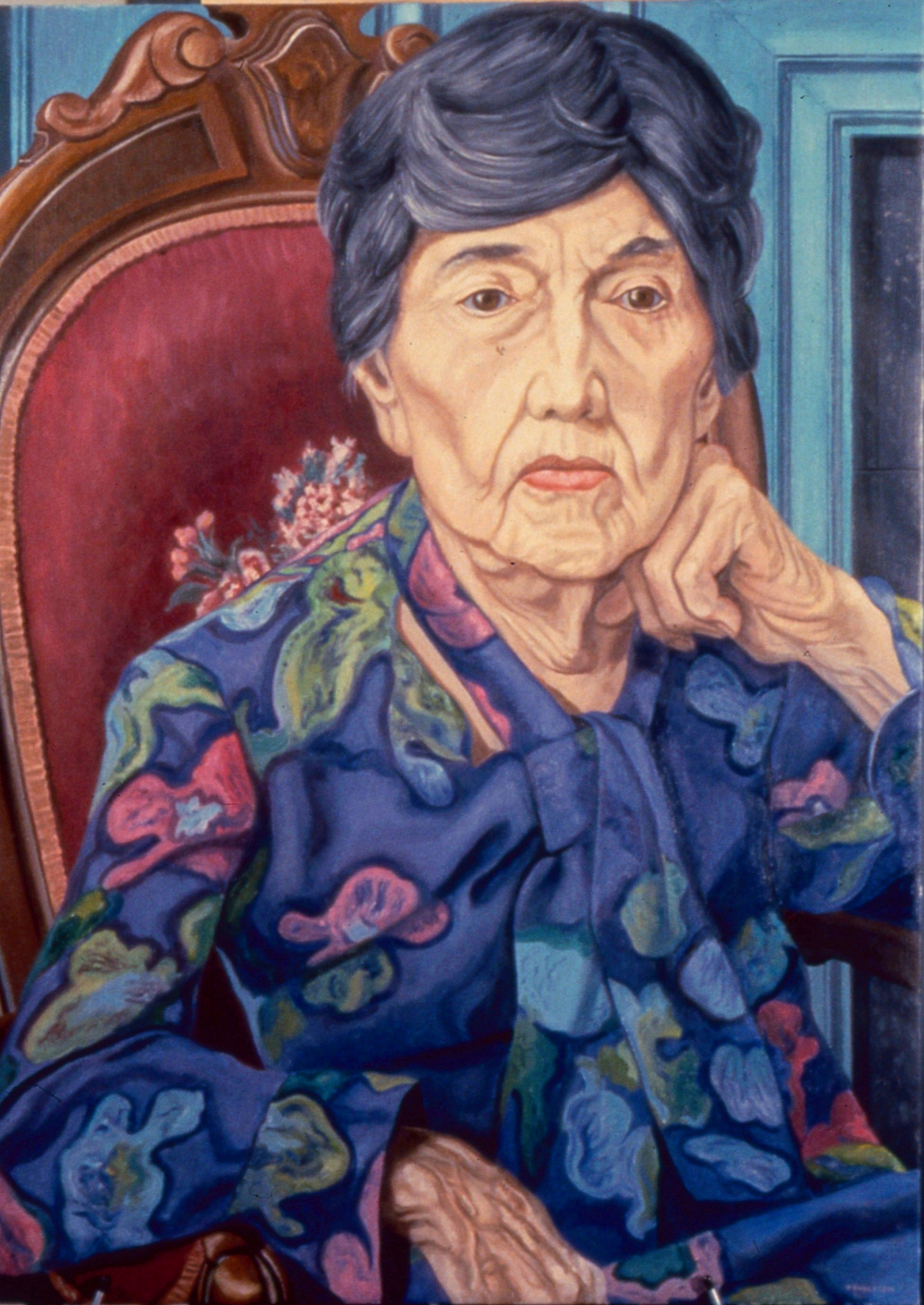 Florence Beecher , 1988 Oil on canvas 40 x 30 in