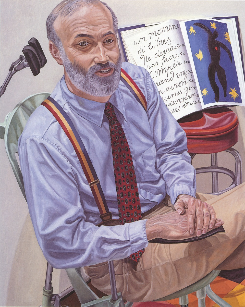 Dr. Lewis Dubroff , 1988 Oil on canvas 60 x 48 in