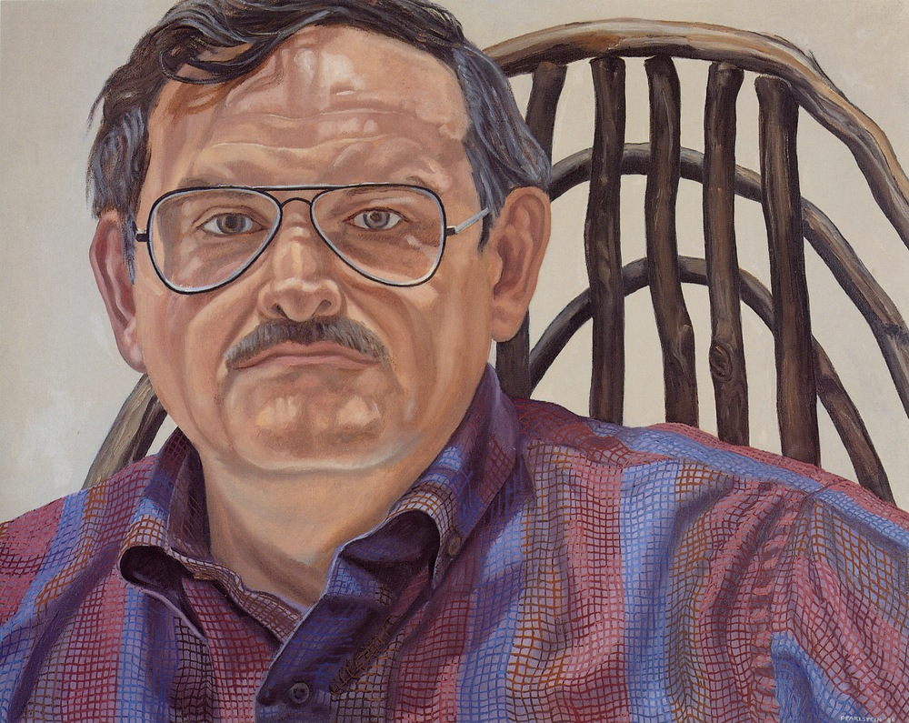 Richard Haas , 1986  Oil on canvas 23 x 29 in