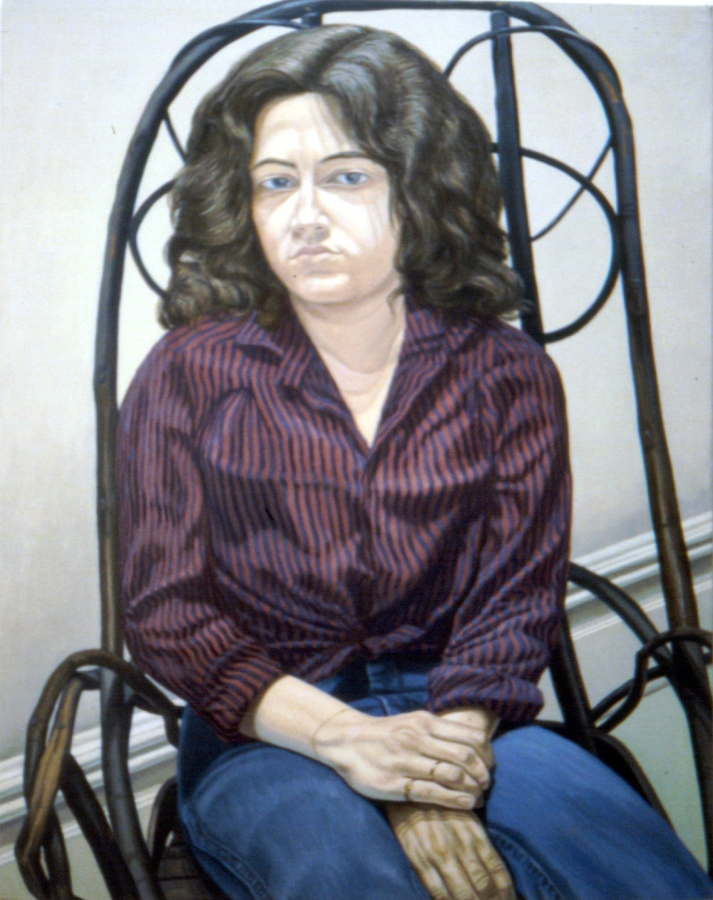 Cathy Melzer , 1980  Oil on canvas 46 x 36 in