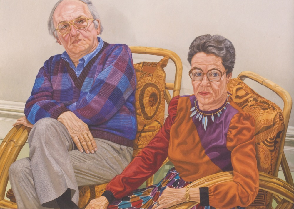 Sydney and Frances Lewis , 1980 Oil on canvas 60 x 84 in