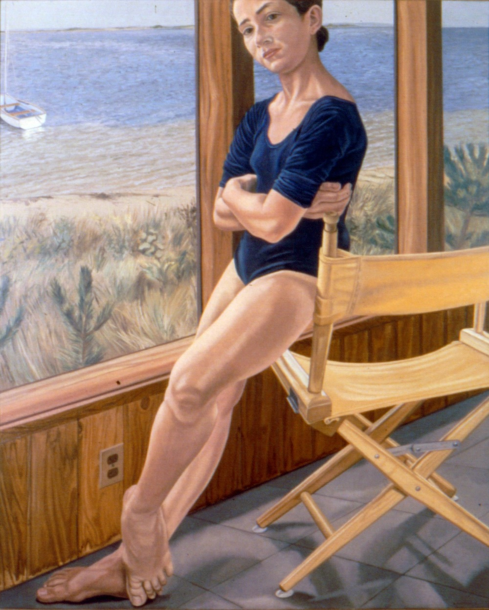Ellen on Fire Island (Artist's Daughter) , 1974 Oil on canvas 60 x 48 in