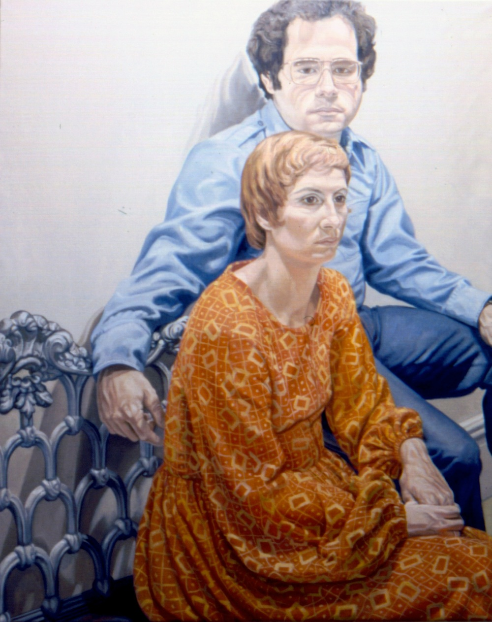 Mr & Mrs Steven Robinson , 1973 Oil on canvas 60 x 48 in