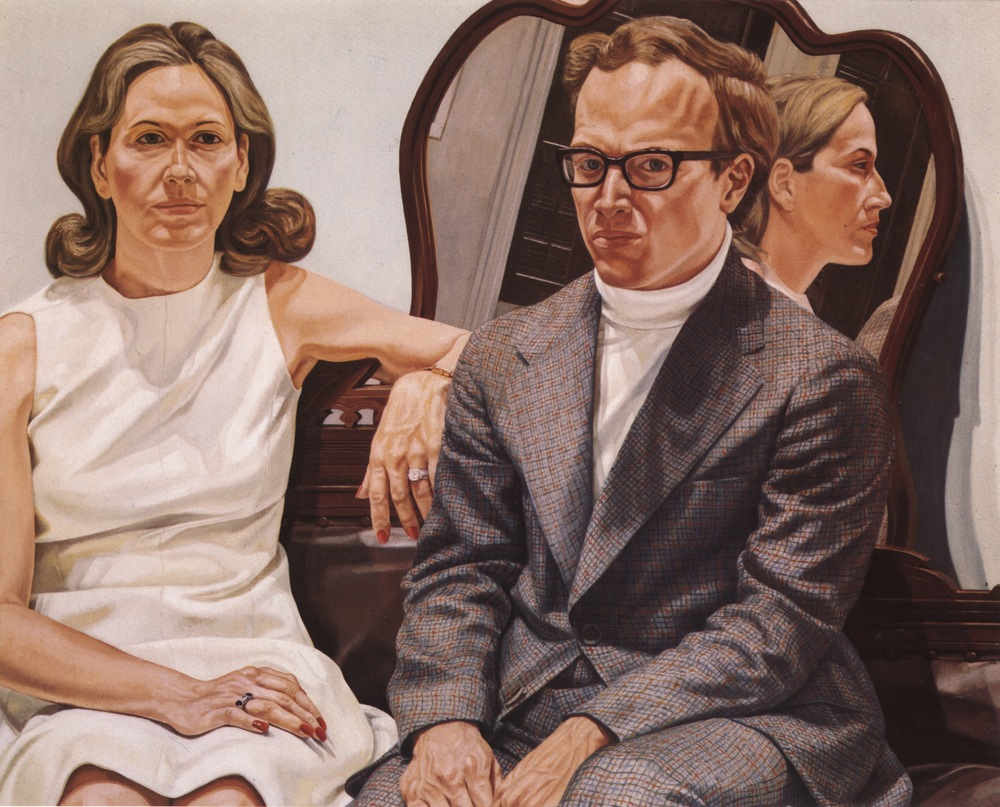 Mr. and Mrs. Edmund Pillsbury , 1973 Oil on canvas 48 x 60 in