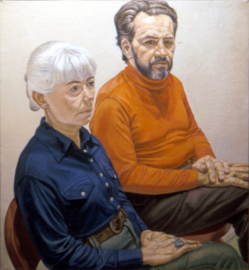 Gloria & Richard Miller , 1973 Oil on canvas 44 x 40 in