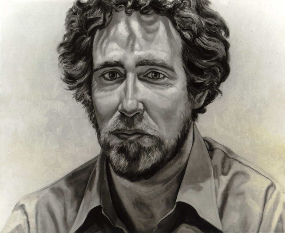 John Perreault , 1973 Oil on canvas 24 x 30 in  (B & W image of color painting)