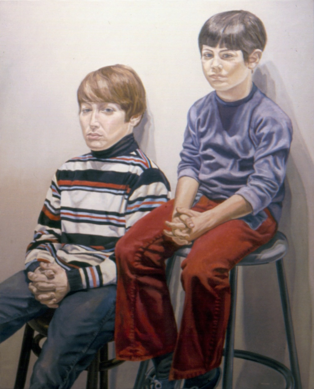 Adam & Jason Katz , 1972 Oil on canvas 60 x 42 in