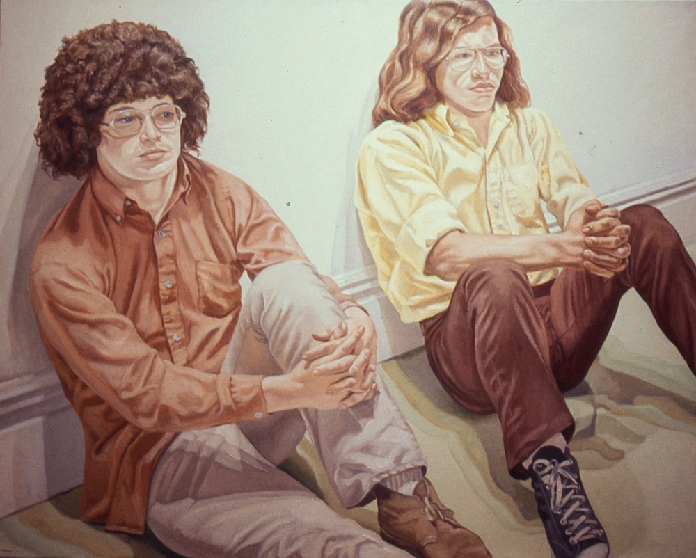William & Bennett , 1971 Oil on canvas 48 x 60 in Collection of the Artist