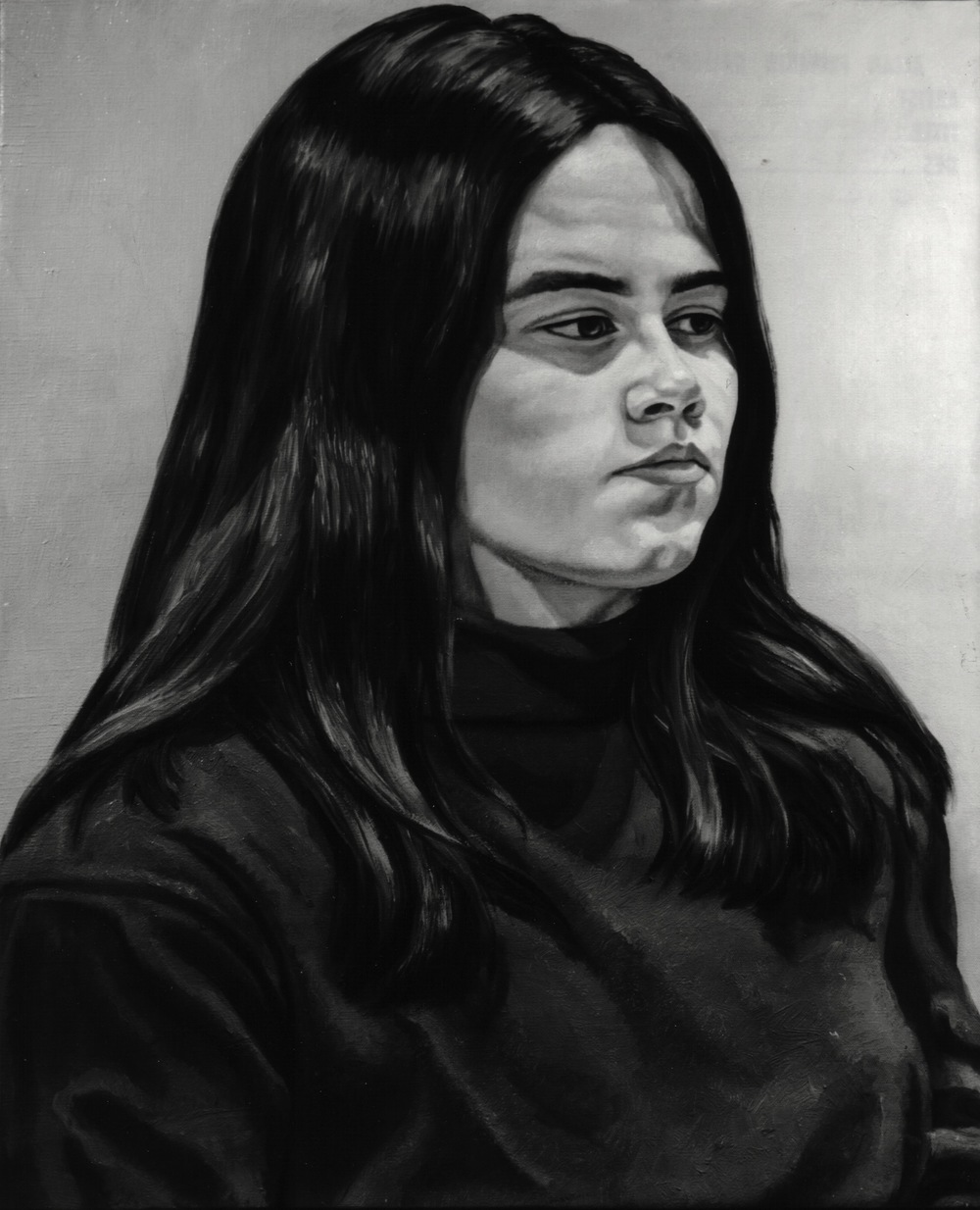 Page Ayres , 1971 Oil on canvas 30 x 24 in (B&W image of color painting)