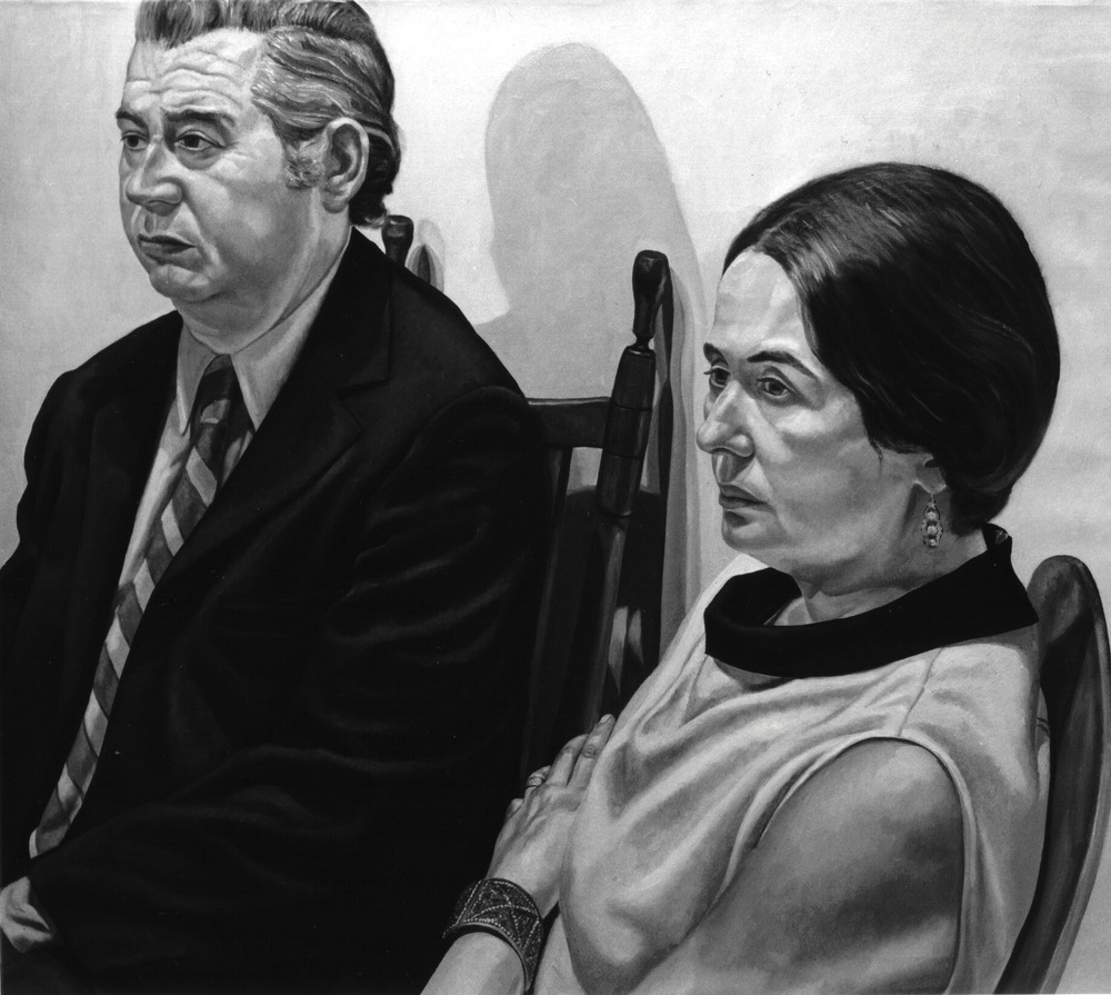 Marcia and Morris Dorsky , 1971 Oil on canvas 44 x 50 in (B&W image of color painting)
