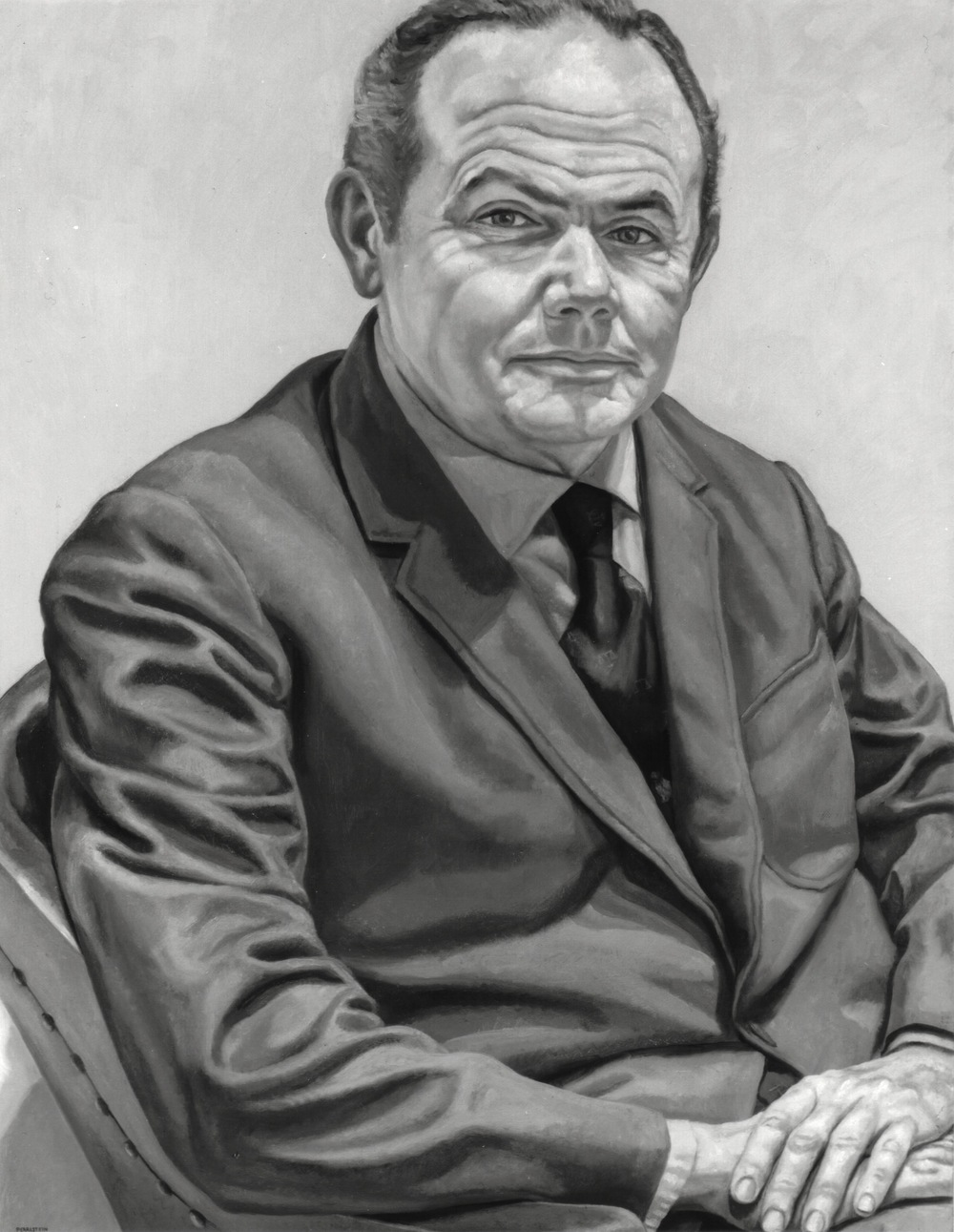 President William F. Quillian, Jr. , 1971 Oil on canvas 42 x 32 in (B&W image of color painting) Maier Museum of Art Randolph Macon Women's College Lynchburg, Virginia