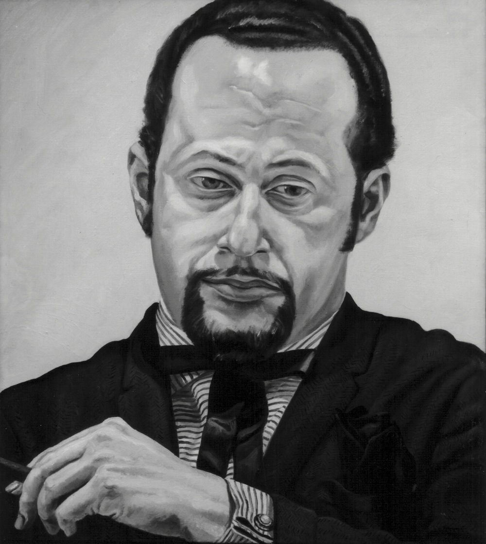 Jerome Eisenberg , 1970 Oil on canvas 25 x 22 in (B&W image of color painting)
