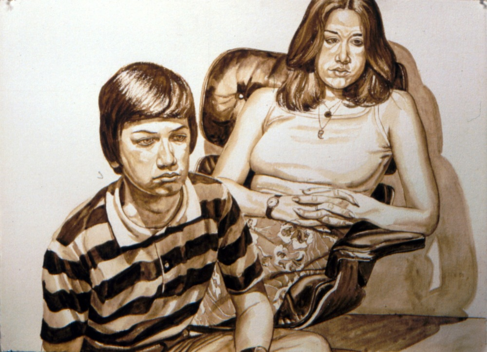 Unknown Portrait, 1970 Watercolor