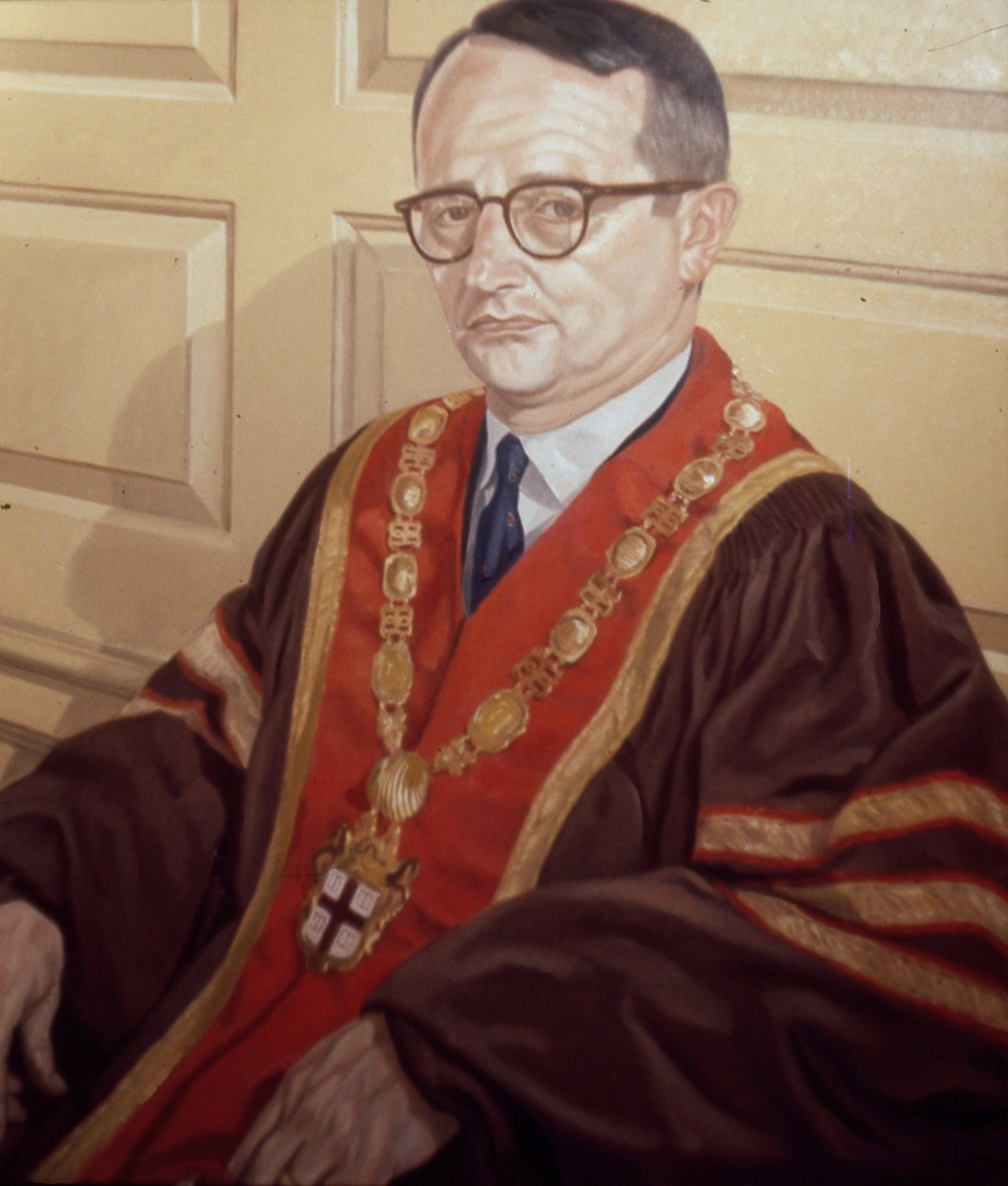 President of Brown University (Raymond Heffner) , 1969 Oil on canvas