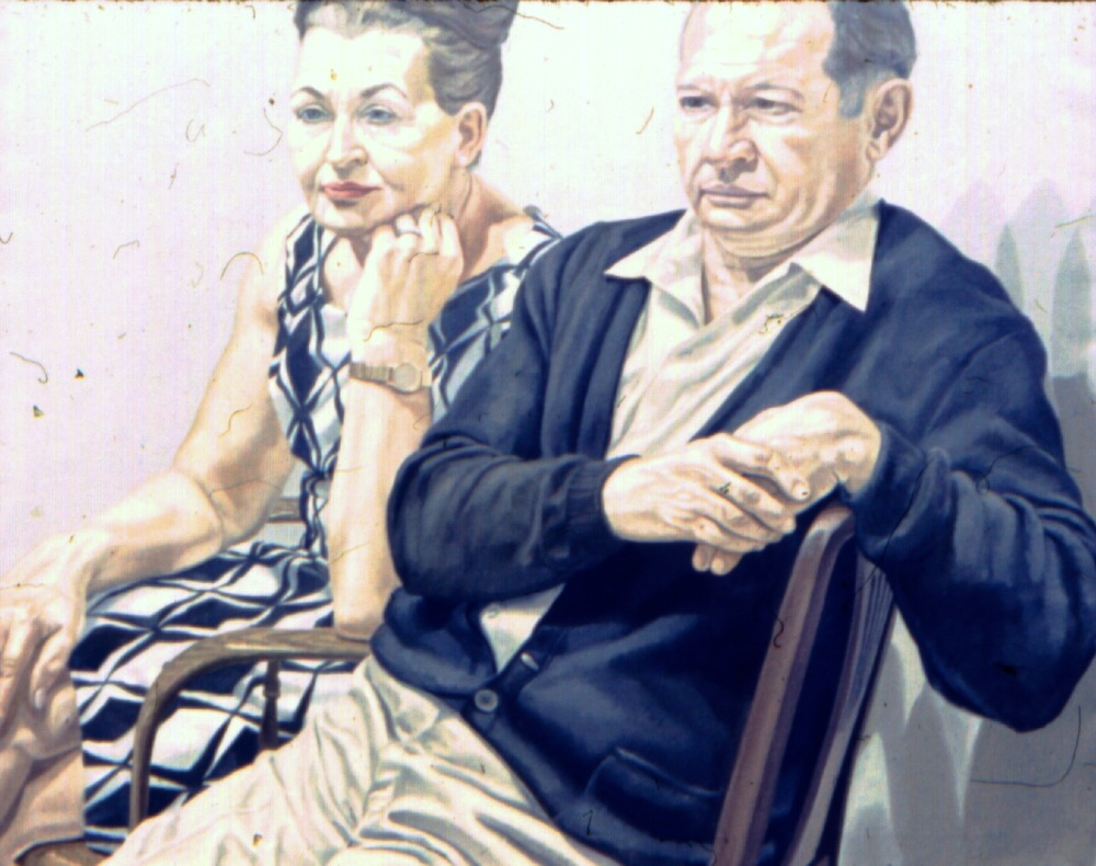 Mr & Mrs Scadrow , 1969 39.5 x 50 in Oil on canvas