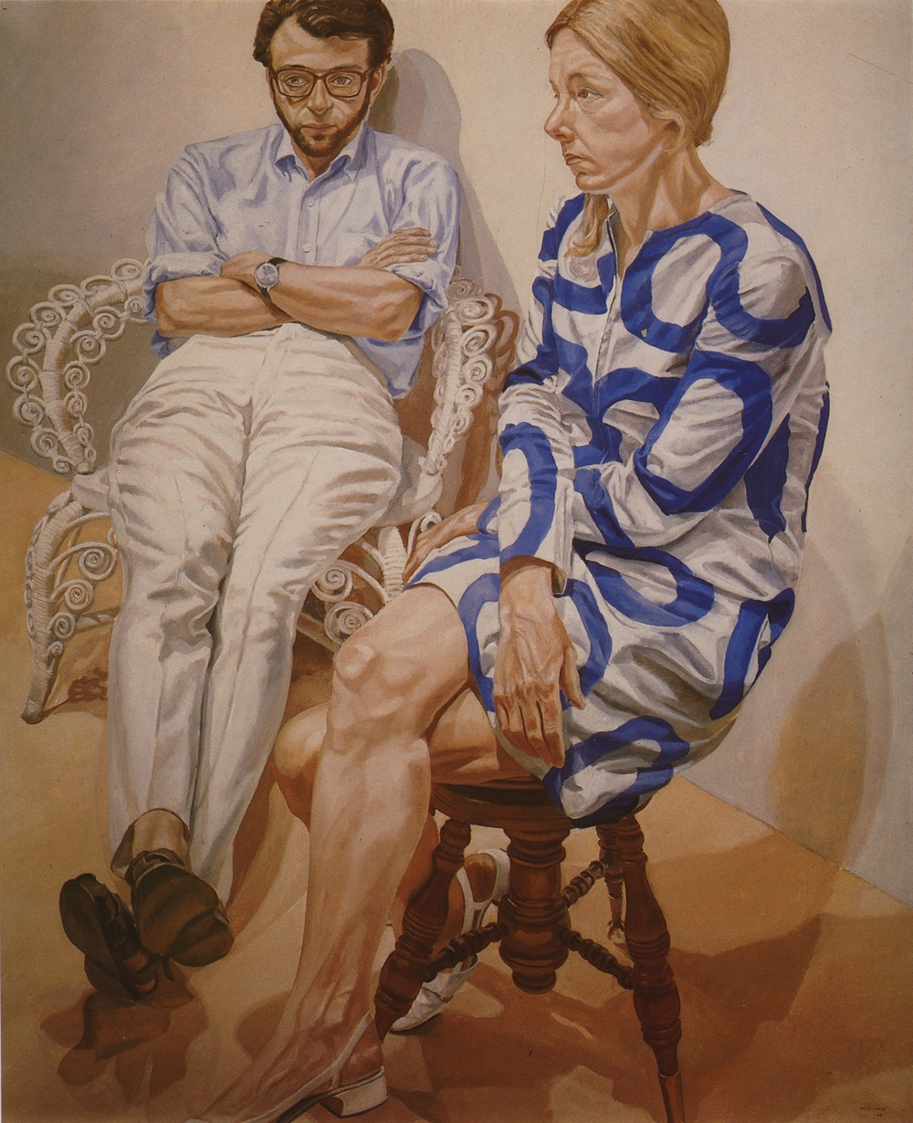 Linda Nochlin & Richard Pommer , 1968 Oil on canvas 72 x 60 in