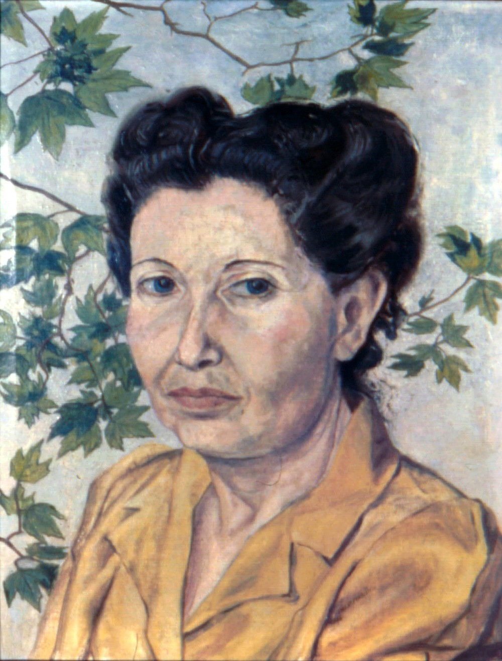 Mrs. Pearlstein, Mother,  1946 Oil on canvas 17 x 13 in