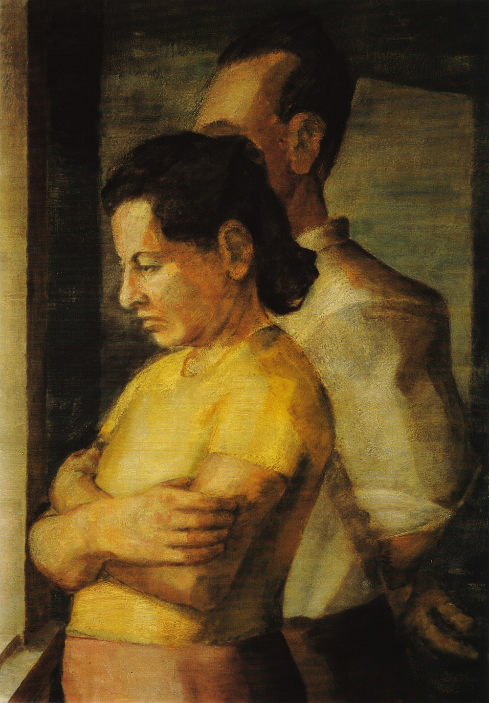 Portrait of the Artist's Parents , 1943 Oil on masonite 25 x 18 in