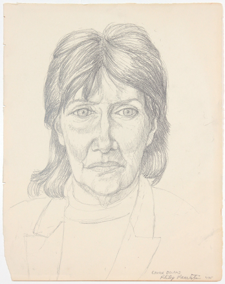 Eavan Boland , 1995 Pencil 15 x 11.75 in